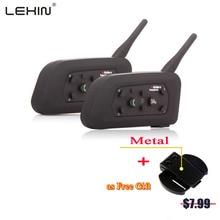 2X 1200M Motorcycle Intercom Bluetooth Helmet Intercom BT Interphone for 6 Riders Wireless Headset Support MP3/GPS Interphone
