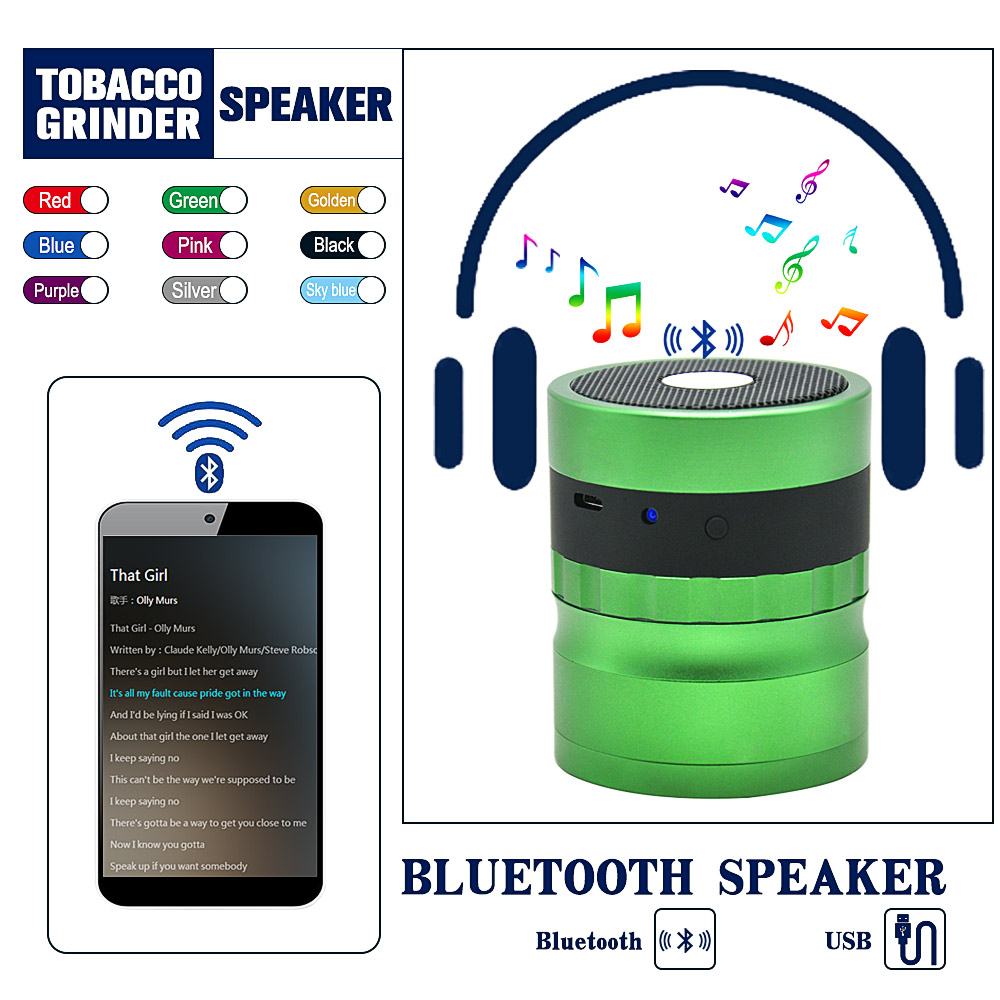 HORNET Premium Powered Bluetooth Bookshelf Speakers Herb Grinder Pollen Catcher 62MM Diamond Shaped Teeth Tobacco Grinder