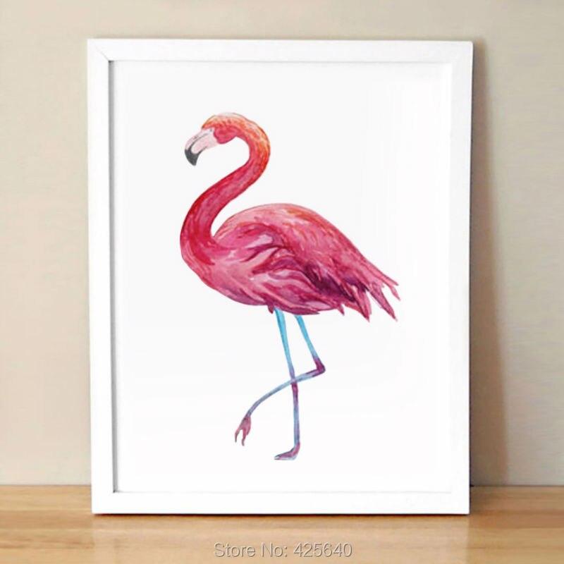 Plakát a tisk akvarelů na plátně na zdi pro obývací pokoj Domácí výzdoba, zvířecí umění Quadro