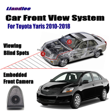 Liandlee Car Front View Camera For Toyota Yaris 2010-2018 11 12 13 14 15 16 17 Cigarette Lighter Switch 4.3 LCD Monitor Display