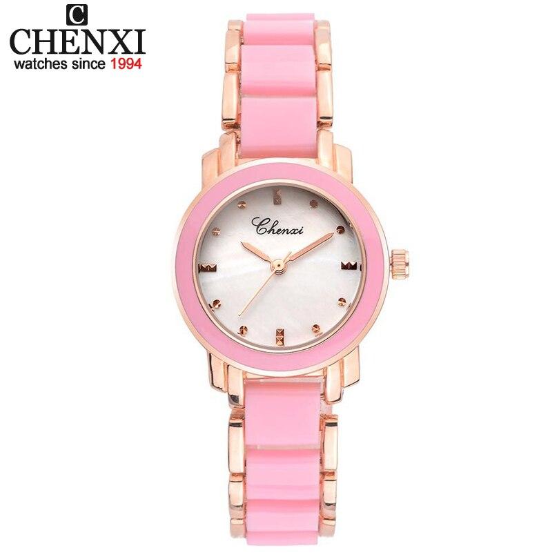Chenxi relojes de las mujeres nuevo estilo de cerámica blanca reloj de cuarzo de lujo marca señoras reloj de cuarzo-reloj colck