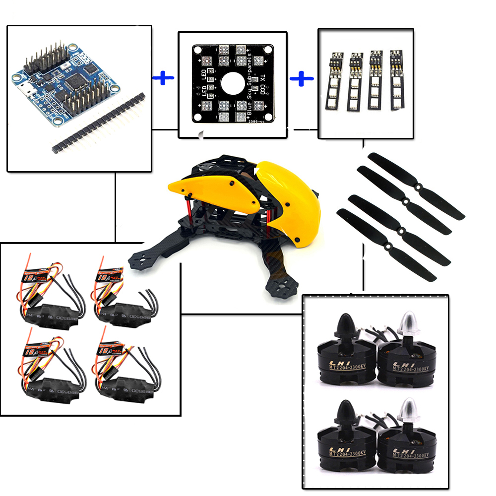 yellow Robocat drones 4-Axis Carbon Fiber Frame Quadcopter drone with camera Naze32 10DOF 12AESC & 2204 2300kv Motor the newest diy fpv race drones robocat 270mm 4 axis fiber glass mini 270 quadcopter frame