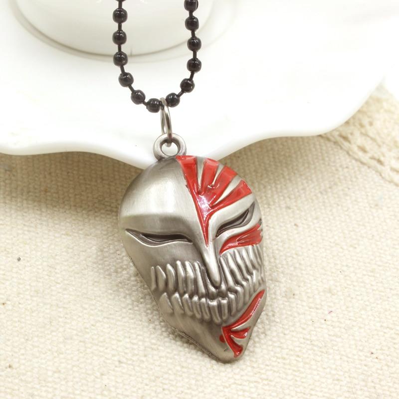 Bleach Ichigo Kurosaki Bankai Hollow Mask Pendant Cosplay Necklace