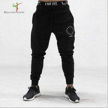 2017 LVFT Gyms pants joggers men Casual Elastic cotton Mens Fitness Workout Pants skinny Sweatpants Trousers Jogger Pants(China (Mainland))