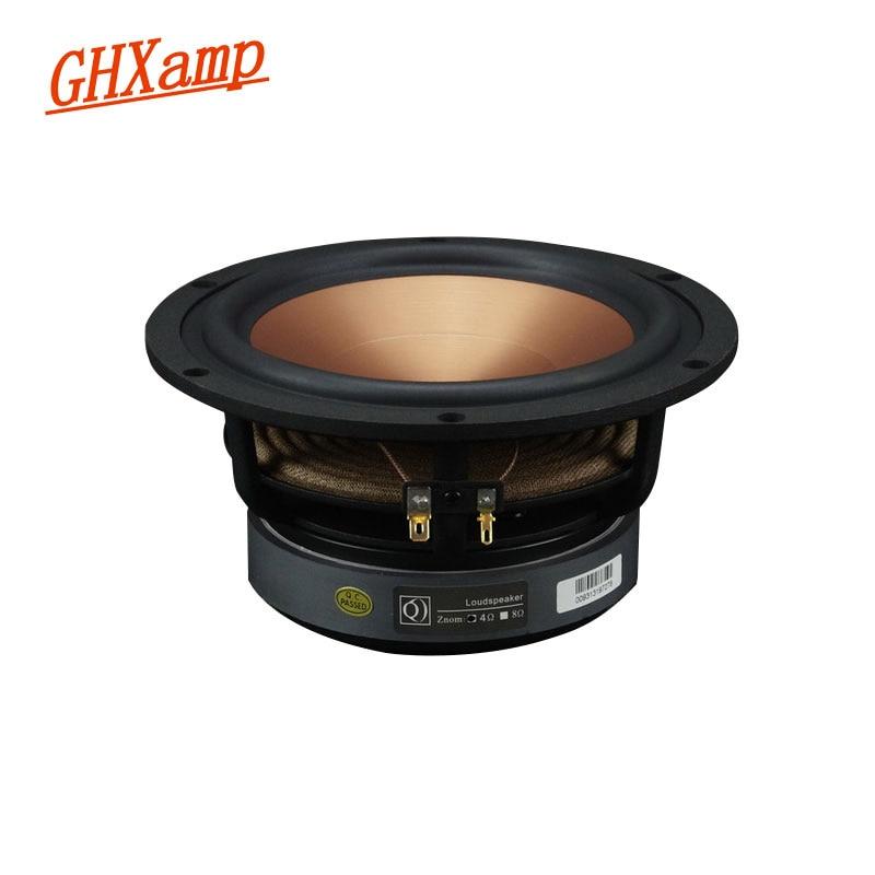 GHXAMP Hifi 6.5 inch Mid-Bass Speaker 8hm 40W Home Theater Midrange Woofer Loudspeaker Alumina Ceramic 1PC ghxamp 3 inch 4ohm 30w midrange speaker car speaker mid human voice sound good loudspeaker for lg diy 2pcs