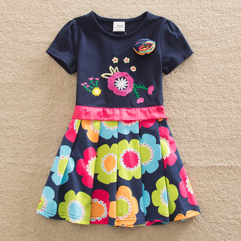 Venta al por menor!  vestido de verano para niñas baby & kids entidad calcomanía