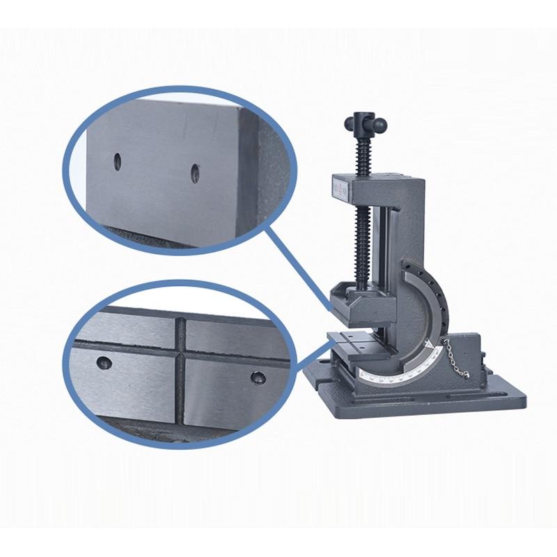 Купить с кэшбэком 4 inch Angle Vise Cast Iron Industrial Strength Benchtop and Drill Press Tilting Vise Adjustment 0 to 90 Degree