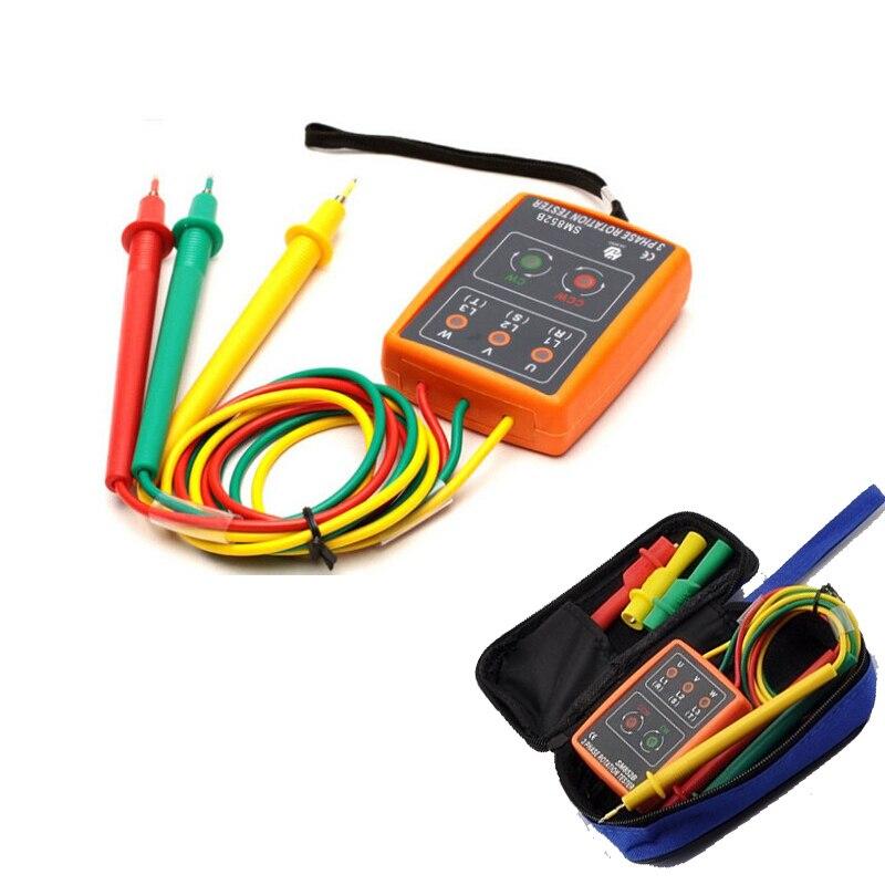 SM852B 3 Phase Rotation Tester Indicateur Détecteur Indicateur LED + Buzzer