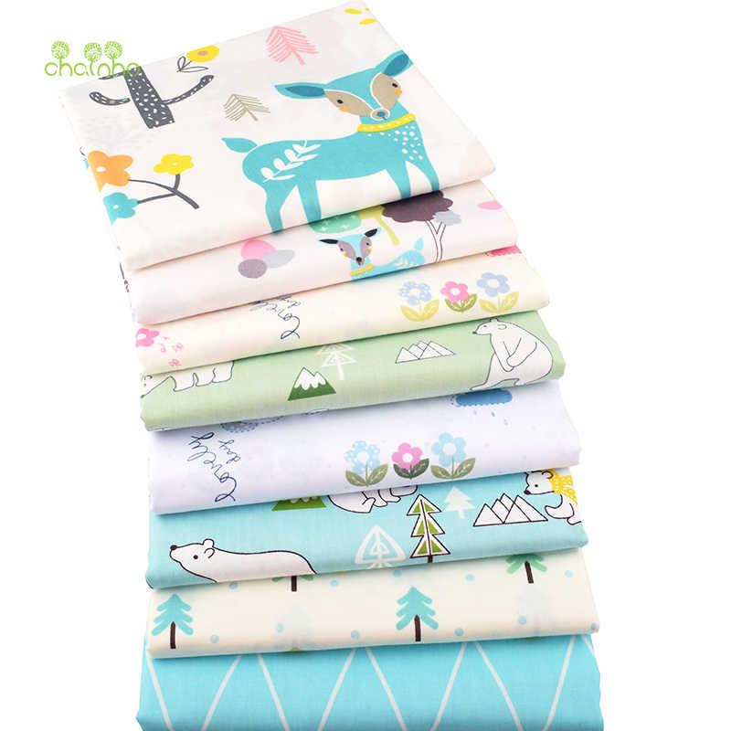Chainho, мультяшная печатная твиловая, хлопковая ткань, DIY шитье для детей и детей лист, подушка, подушка, материал игрушки, полуметр
