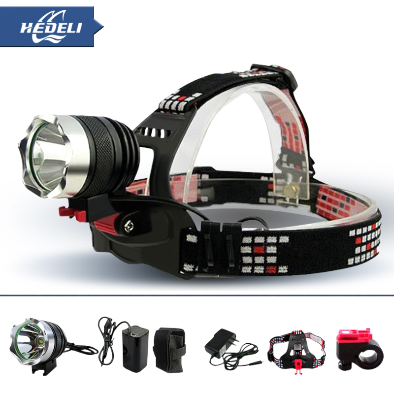 Outdoor Lighting 1800 Lumens Cree T6 Lumen 18650 Bike Head Light Lamp Lantern Headlamp Headlight Flashlight Torch