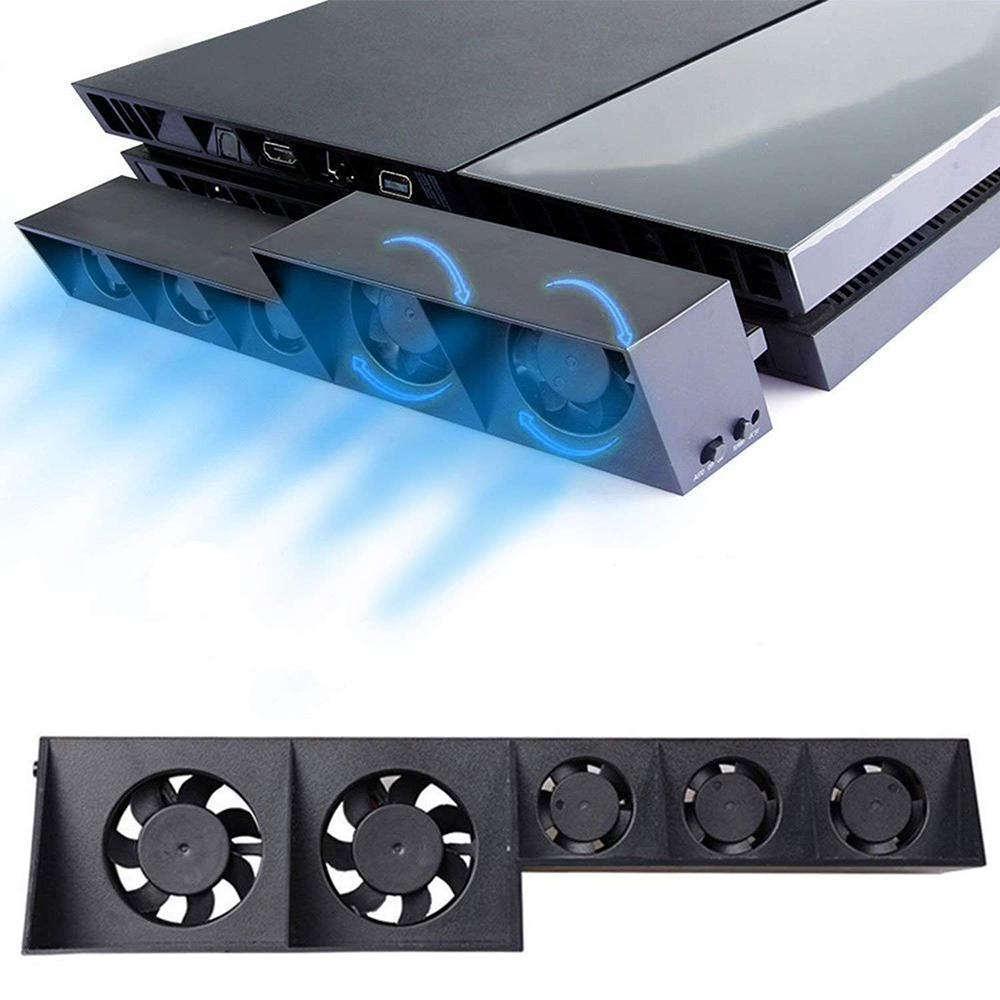 For <font><b>PS4</b></font> <font><b>Turbo</b></font> Cooling Fan External USB Cooler with Auto Temperature <font><b>Controlled</b></font> Radiator for Sony PlayStation 4 Console image