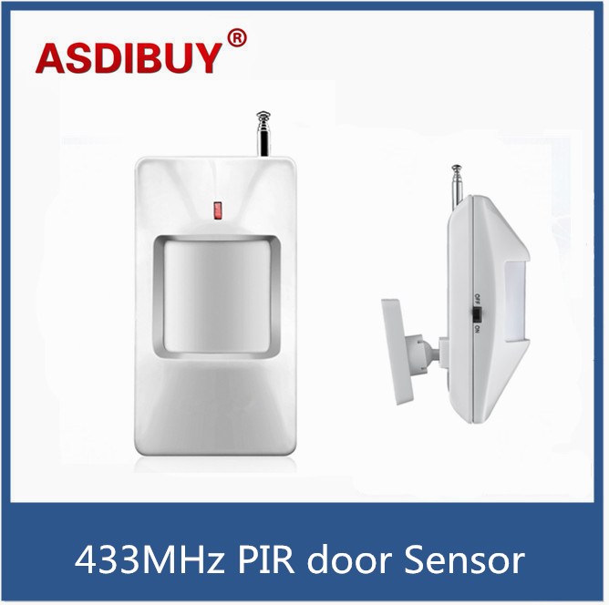 цены  433MHz Wireless PIR door Sensor/Motion Detector For Wireless GSM/PSTN Alarm Home Alarm Security Alarm System accessory