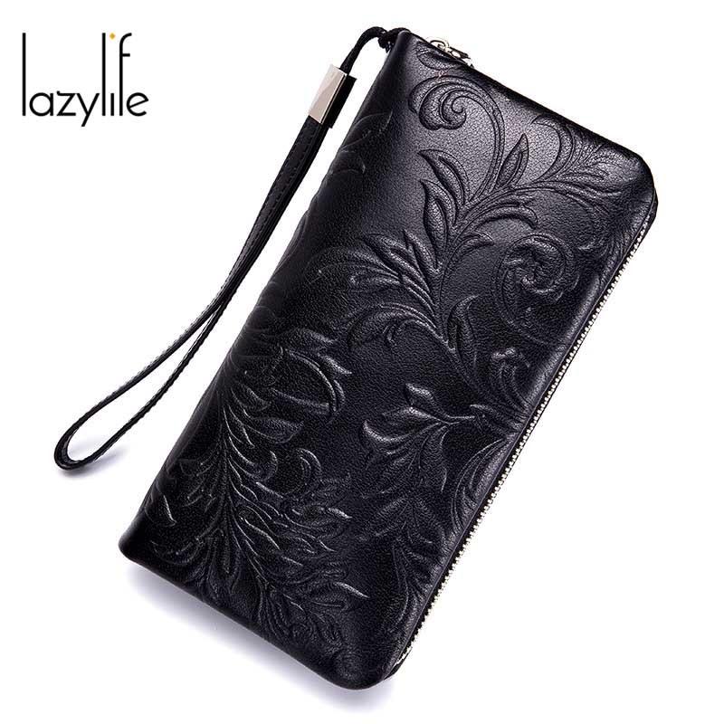 где купить LAZYLIFE New Phone Pocket Luxury Wallets Women Lady Purses For Leather Clutch Long Hasp Woman Wallet Female Purse Card Holder по лучшей цене