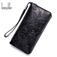 LAZYLIFE New Phone Pocket Luxury Wallets Women Lady Purses For Leather Clutch Long Hasp Woman Wallet Female Purse Card Holder
