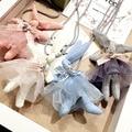 Мода Дети Дети Детские Ювелирные Изделия Свитер Цепи Веревки Ожерелье Милый Ткань Искусства Rabit Розовый Синий Белый Серый Ожерелье для Девочки