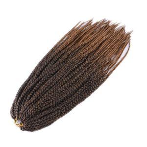 """Image 2 - Luxe pour tressage cheveux synthétiques Ombre violet brun blond 24 """"12 brins/pc 110g Jumbo Crochet boîte tresses"""