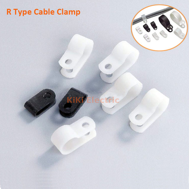 Plastic R type Wire Holder 3.3mm 1/8\