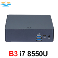 Partaker Nuc Mini PC i7 8550U Quad Core Windows 10 Pro DDR4 Max 16GB AC Wifi Mini Computer HD Typc C