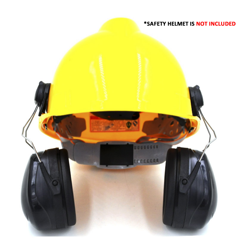 Image 2 - New Anti noise On Helmet Earmuffs Ear Protector For Safety Helmet Cap Use Factory Construction Work Safety Hearing Protection-in Ear Protector from Security & Protection