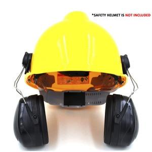 Image 2 - Nuovo Anti rumore On Casco Paraorecchie Protezione orecchie Per Il Casco di Sicurezza Cap Uso Costruzione Della Fabbrica di Sicurezza Sul Lavoro di Protezione Delludito