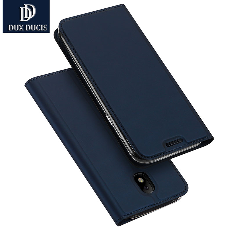 DUX DUICS for samsung J7 2017 case flip PU leather soft silicon back for samsung galaxy