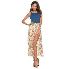 New Arrival Basic Vest Printing Split Dress 2019 Summer Fashion Sleeveless Bodycon Strap Party Dresses