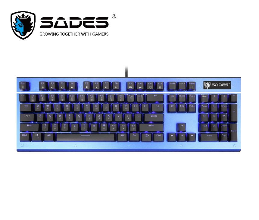 SADES Keyboard K13 Sickle Mechanical Gaming Keyboard 104 Keys USB Plug Kailh Blue Switch For PC