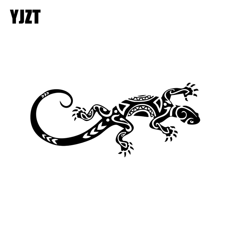 YJZT 15.7*6.9CM Funny Reptile Lizard Decor Car Stickers Vinyl Bumper Car Window C12-1079