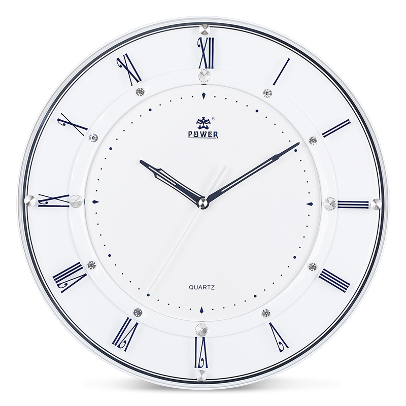Power brand 14 inch large wall clock modern living room for Modern living room clocks