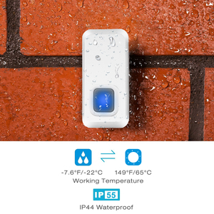 Image 5 - DAYTECH התוספת Wireless דלת פעמון IP44 עמיד למים פעמון עם 55 פעמוני ערכת LED מחוון 1 מקורה מקלט 2 doordoor כפתור