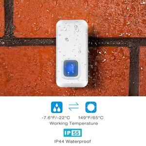 Image 5 - IP44 DAYTECH Plug in Campainha Sem Fio Chimes Campainha Impermeável com 55 kit LED Indicador 1 2 Receptor Indoor doordoor botão