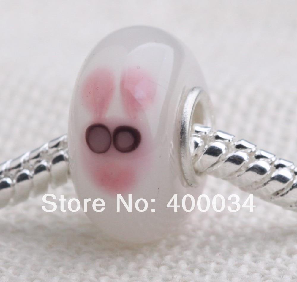 7678229cede4 Cabeza de conejo de cristal Cuentas para 3mm moda europea Bisutería y  componentes