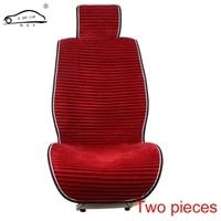 2 PCS Car Back And Front Seat Pad Warm Short Plush Auto Rear Cushion Mat Winter
