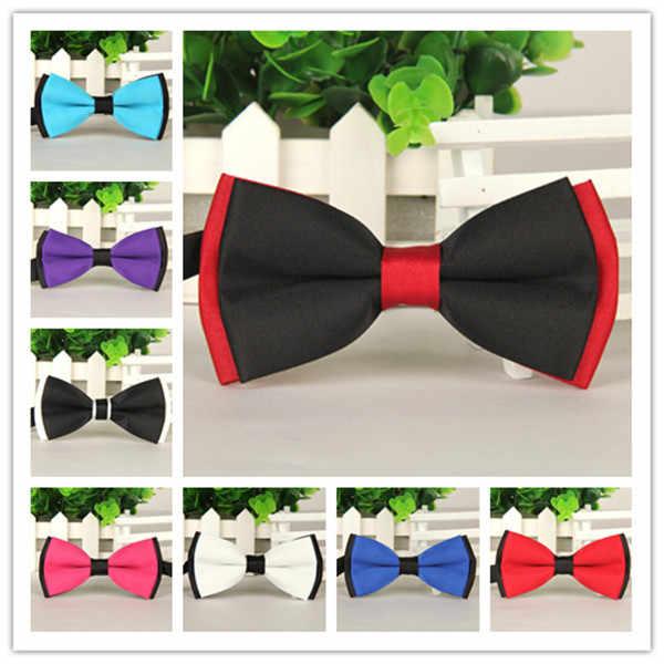 Brand New 11 Colori Papillon Moda Papillon da Uomo di Affari di Nozze Commerciali Nero/Rosso/Viola/Giallo/rosa Farfalla Cravatta