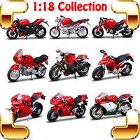 Regalo de año nuevo ymh 1/18 modelo de simulación de motocicletas escala colección decoración superior toys car motor vehicle metal estático actual