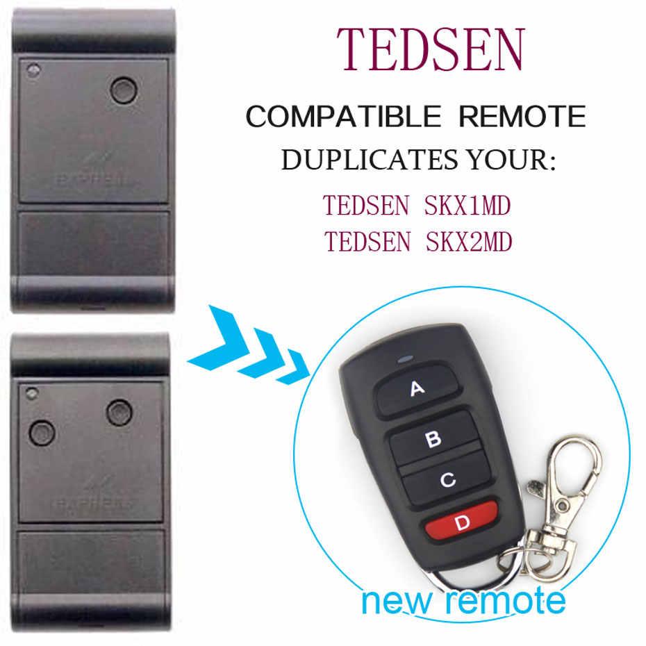 Für Tedsen SKX2MD Universal Fernbedienung Sender Garage Tür Tor Anhänger