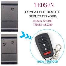 TEDSEN SKX1MD SKX2MD שלט רחוק שער מוסך דלת TEDSEN 433,92MHz שלט רחוק