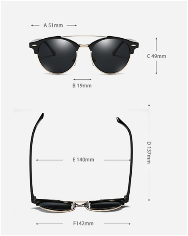 Custom Made Myopia Minus Prescription Polarized Lens Sunglasses Men Half frame Double beam round Sun Glasses Male Goggles FML 5