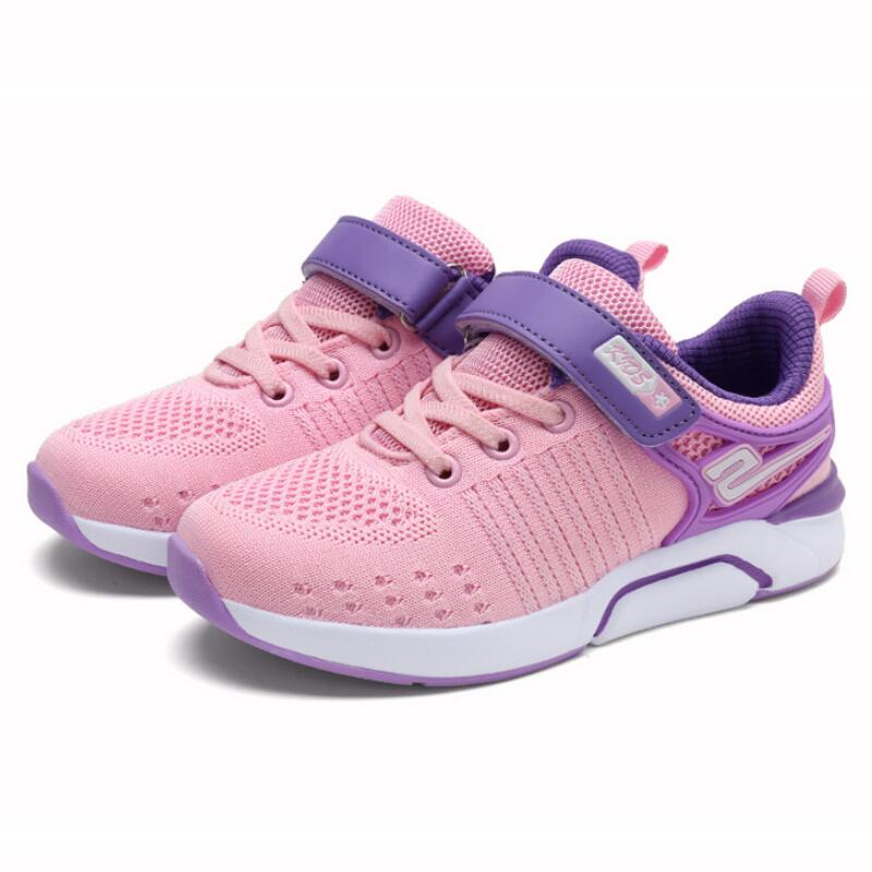 Children Shoes For Girls Flat Running Kids Sneakers Boys Breathable Mesh Tennis Sneakers Soft Leather Sport Shoes|Sneakers| |  - title=