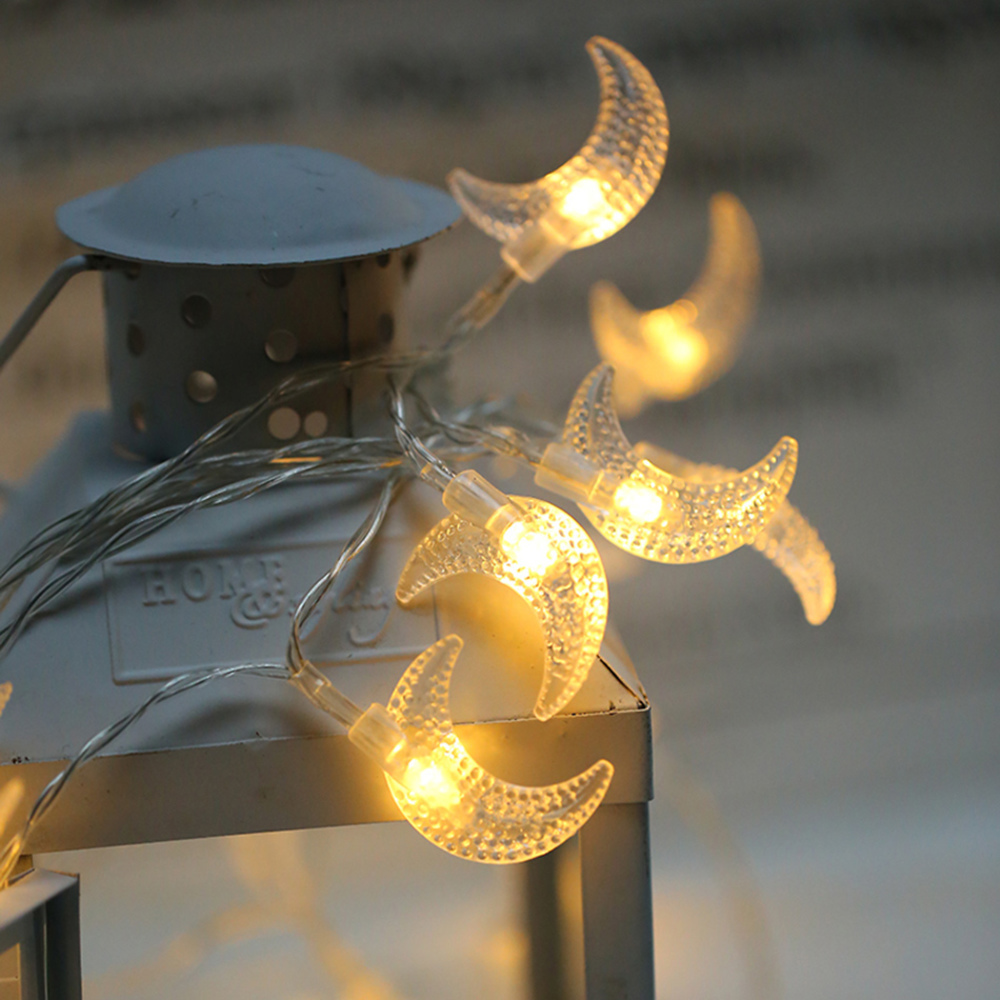 Battery Powered LED moon fairy String Lights ,lovely holiday light For Garden, Wedding,Living Room light party decoration JJ-G16