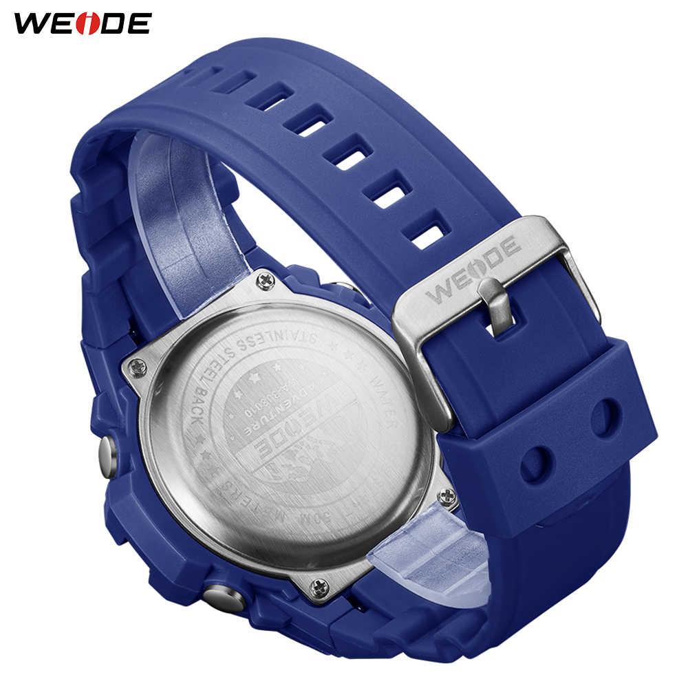 WEIDE ספורט מזדמן מפואר שעה שעון אלקטרוני מים עמיד קוורץ אנלוגי דיגיטלי גברים שעוני יד Relogio Masculino