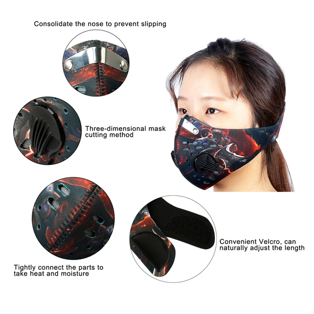 WEST BIKING Cycling Face Mask With Filter Half Face Carbon MTB Bike Training Mask Face Shield Anti Smog Bicicleta Cycling Mask 4