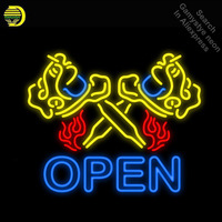 Neon Signs for Flaming Tattoo Machine Neon Light Sign Garage Neon Bulbs sign Glass Tube Decorate Hotel Room Signs dropshipping