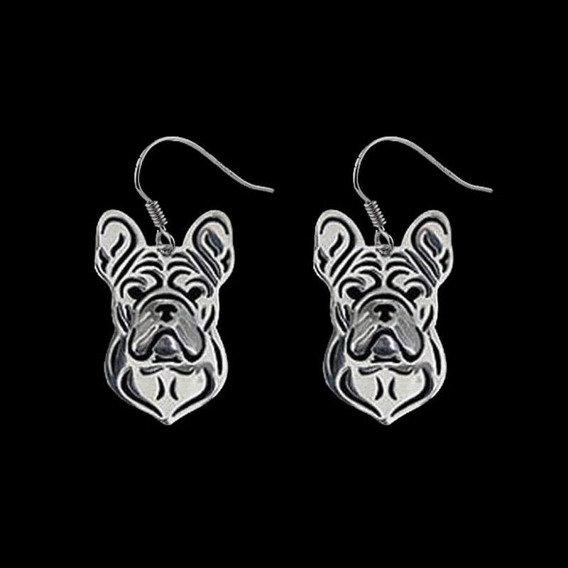 2018 Frauen Französisch Bulldog Hund Ohrringe Dame Metall Hund Anhänger Ohrringe Drop Verschiffen Lassen Sie Unsere Waren In Die Welt Gehen