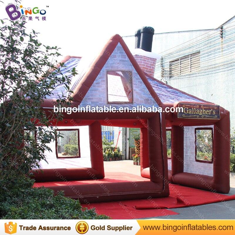 Большой надувной паб портативный надувной бар Палатка Надувные ирландский паб для продажи с бесплатным вентилятором N воздуходувы бар игру