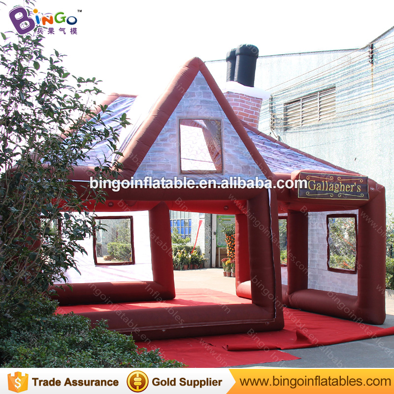 Large inflatable pub portable inflatable bar tent inflatable irish pub for sale with free fan N blower bar toys for children personal activity inflatable mobile pub tent for family party use