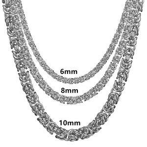 Image 5 - 1 шт., византийская цепочка из нержавеющей стали 316L, 6/8/10 мм