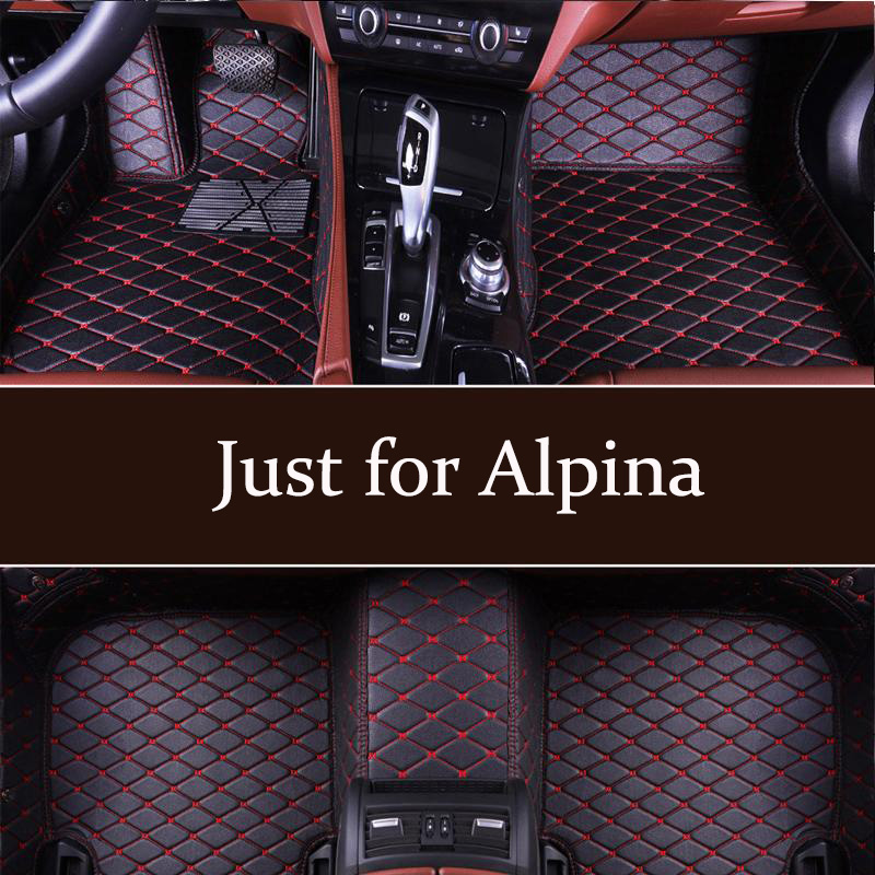 Car Floor Mats factory outlet personal custom Fit For Alpina B3 B3S B5 B6 B7 2005-2012 2009-2012 2010-2018 leather floor mats(China)
