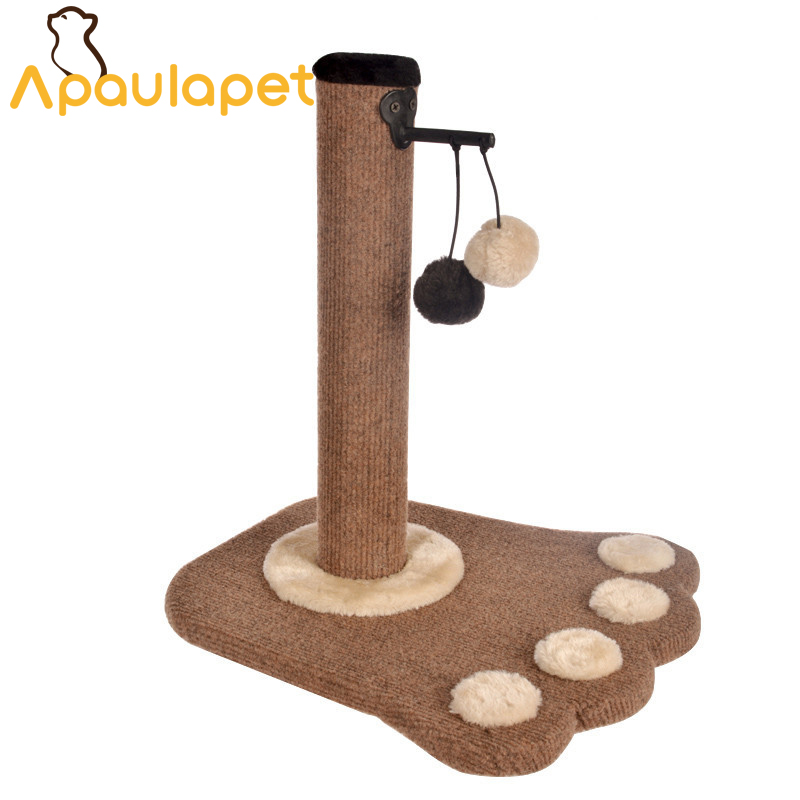 APAULAPET New Paw Print Cat Toy Cat Climbling Cat Furniture Cat Scratcher Tree Scratch Toy For Pet Kitten Jumping