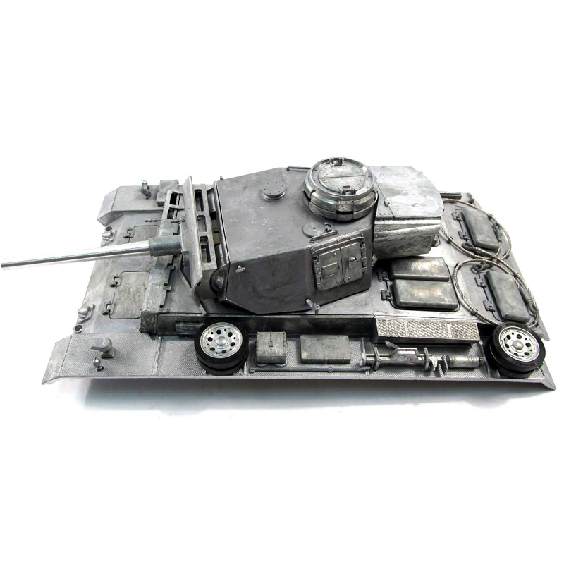 Mato Metal Upgraded Parts Upper Hull With Turret For 1/16 1:16 RC Panzer III Tank mato 1 16 stug iii rc tank full metal upper hull mt189 spare parts